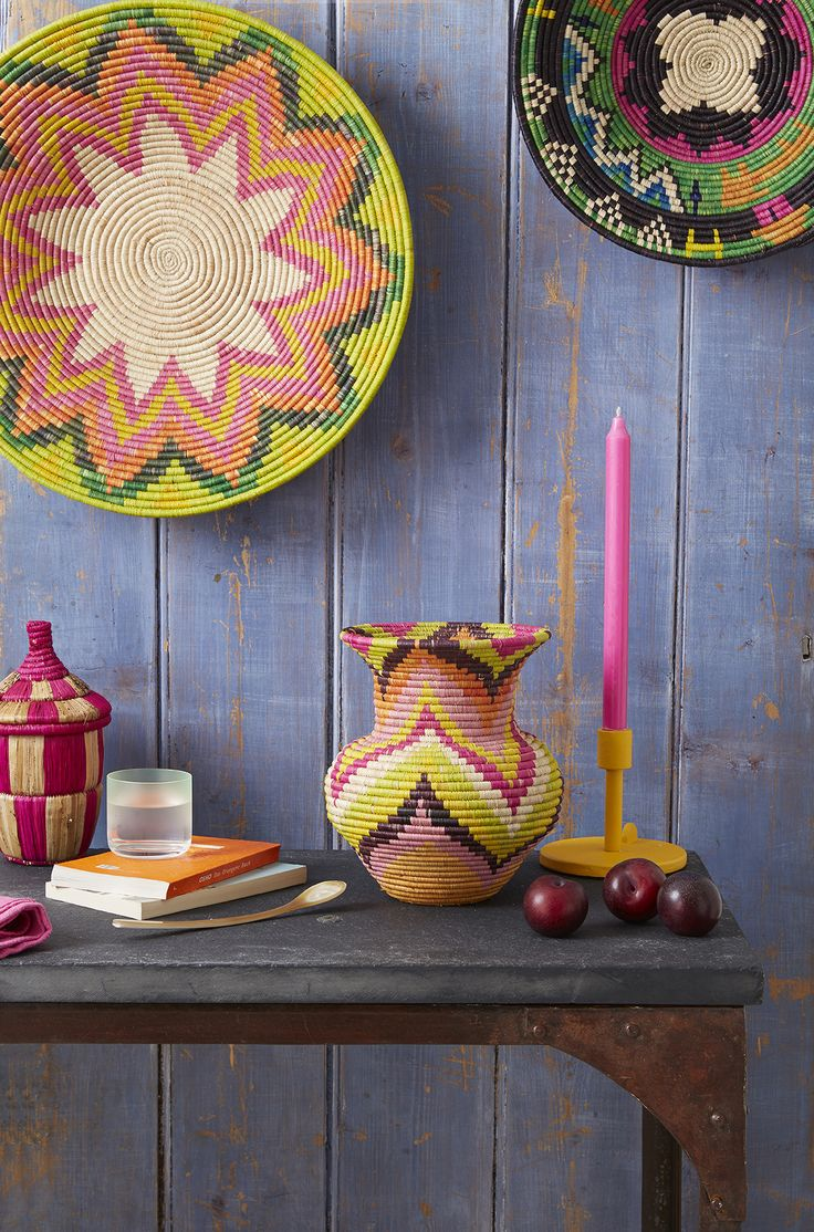 Brighten up your home with multi-coloured #plates and #vases from#Uganda. For more information on#TKMaxx's Rwenzori Trading Company #charity range click the image.