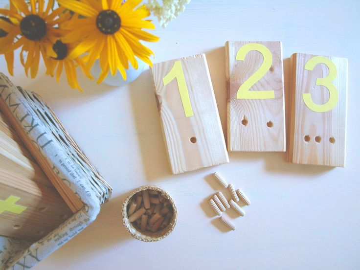 Cute and simple DIY Montessori inspried peg counting material