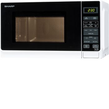 Sharp R272WM - 20 ltr microwave in white Microwave oven with touch control operation and push button to open the door. Ideal for reheating and defrosting food.800 W Microwave output powerTouch control operation11 Microwave power levels20 Lit http://www.MightGet.com/january-2017-11/sharp-r272wm--20-ltr-microwave-in-white.asp