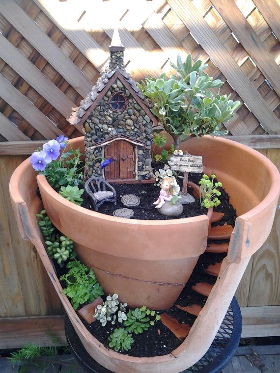Stone Fairy Cottage House. Pinecone shingle by TheHealersGarden