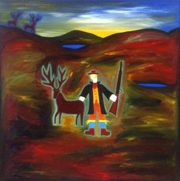 Alessandra la Bella y su Venado, 2002. Oil on linen, 121 x 121 cm. Commission. #painting #oilpainting #finearts #contemporaryart #cristinarodriguez
