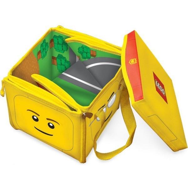 ZipBin este atat cutie pentru jucarii cat si saltea colorata, unde copilul isi poate organiza propriul spatiu de joaca