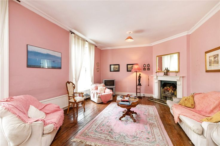 A gloriously pink room in Knocksedan House in Dublin which dates from c. 1760