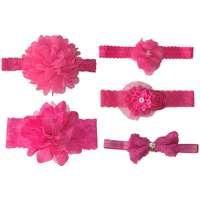 Baby Headbands 5 Piece Hamper - Hot Pink