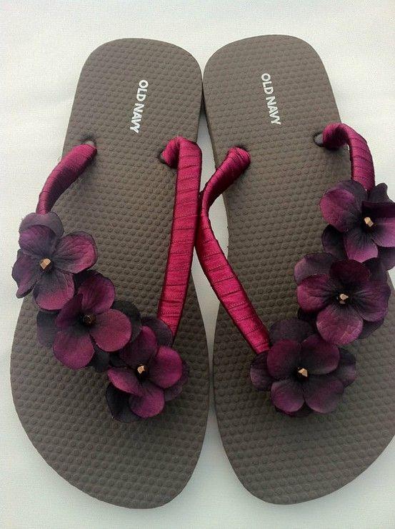 Flower Flip Flops by becca0505