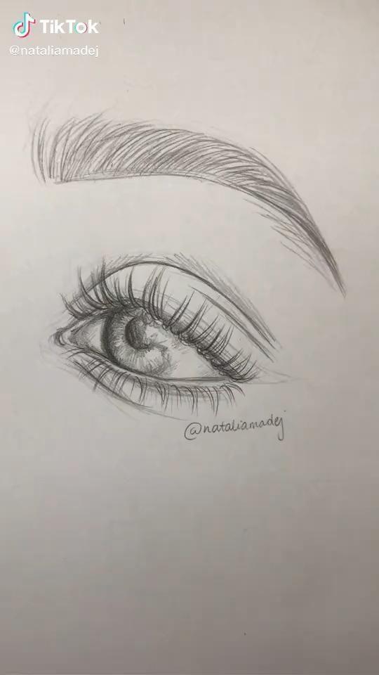 Tik Tok Eyes Drawing Eye Drawing Beauty Art Drawings Painting Art Lesson