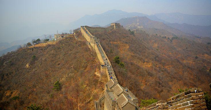 Die chinesische Mauer bei Peking |