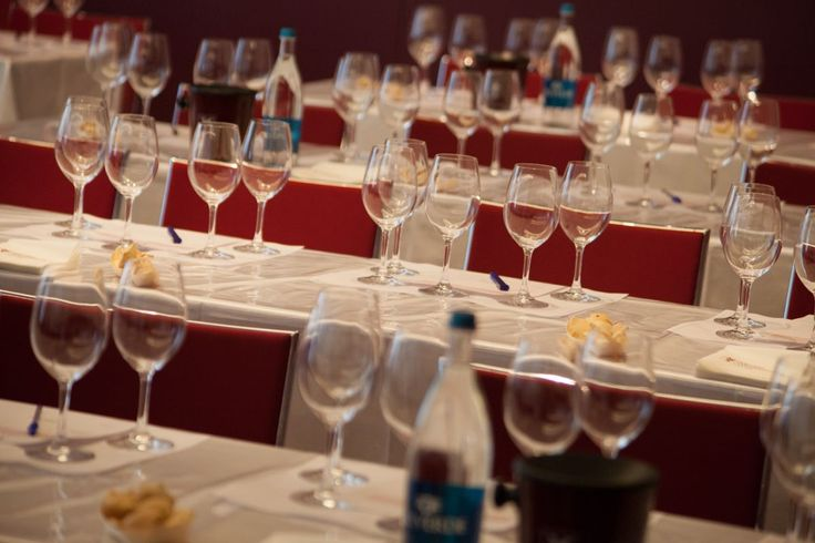 The glasses are readz to be filled! International Wine Master Classes | Merano WineFestival
