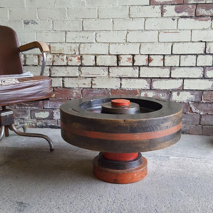 Bespoke foundry wheel pattern coffee table unique coffee
