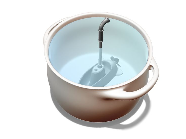 Submarine ladle - serving soup can be fun :) A 3D model ready to be 3D printed.