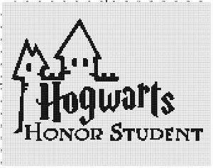 Hogwarts Honor Student Harry Potter Cross Stitch pattern. Good graduation gift.