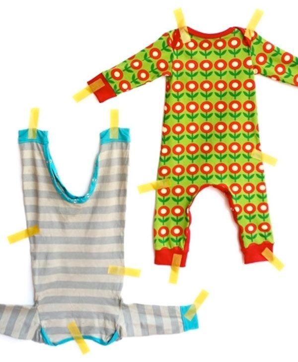 crédit photo Jannie Spruit sur Kiind Il n'est pas toujours facile de coudre un pyjama ou un body pour un bébé, qu'il soit garçon ou fille. Mais avec ce patron gratuit, plutôt simple, vous pourrez travailler le jersey et confectionner de quoi habiller Bébé pour la nuit ou pour la journée : après tout, vous pourrez mettre ce vêtement la journée pour rester à la maison, ou alors pour tenir chaud quand vient l'hiver. Le modèle est simple, sobre et se prête également à quelques modific...