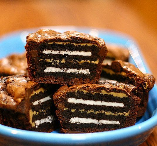 Oreo & Peanut Butter Brownie Cakes | Favorite Food Bloggers! | Pinter ...
