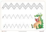 Fichas de grafomotricidad: Trazos verticales y horizontalesFichas de grafomotricidad para los peques de infantil. Seguimos con trazos, hoy lo ponemos más dificil y combinamos los trazos horizontales, verticales y oblícuos