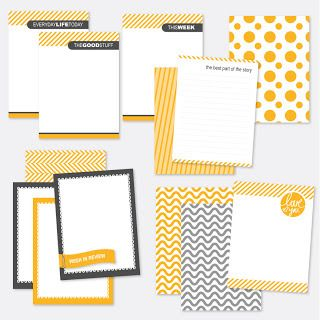 13 Card Project Life Printable Journaling Card Freebie Set
