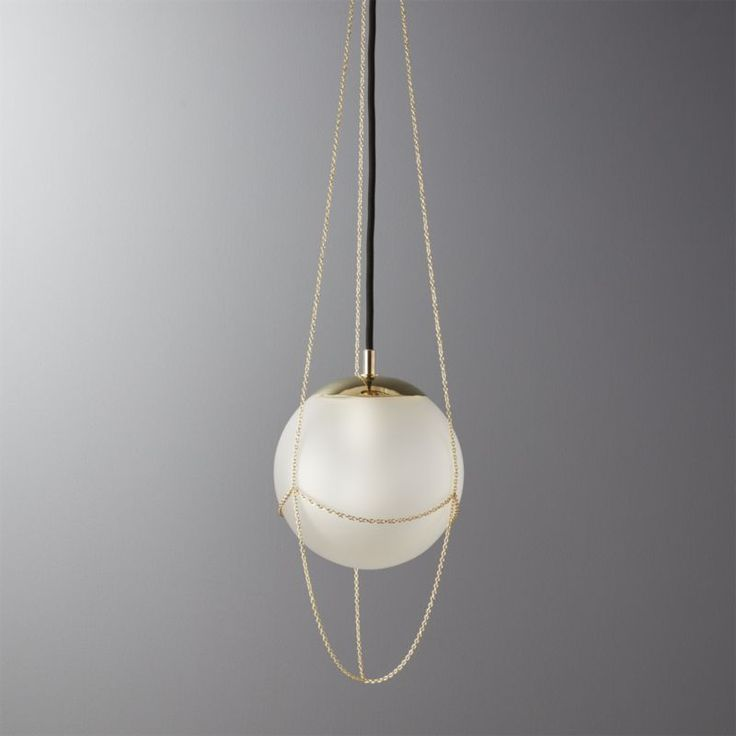 Shop Flo Adjustable Pendant Light.   Glass globe echoes authentic art deco style in a modern silhouette.