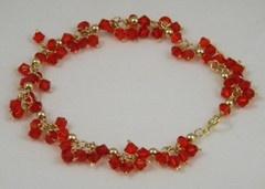 Siam Cluster Crystal Bracelet