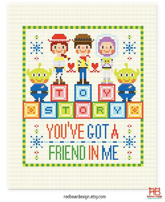 Quote Cross stitch Toy Story Quote You've got a by redbeardesign