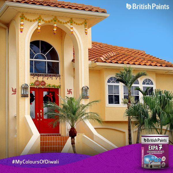Let the exteriors be Diwali ready and look beautiful and alive. What is your perfect Diwali look?  #BritishPaints