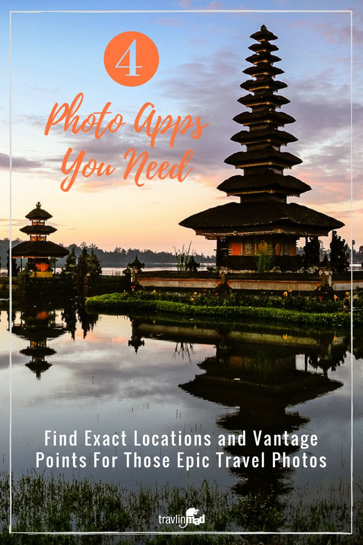 Ever wonder how to find the great photo locations of the places you're visiting? Some might be easy to find, or maybe not. Maybe they're not easy to get to. These 4 helpful photo apps will help you scout the exact location of those bucket list photographs you want to shoot around the world! Best Travel Photography apps, photo apps, travel photography