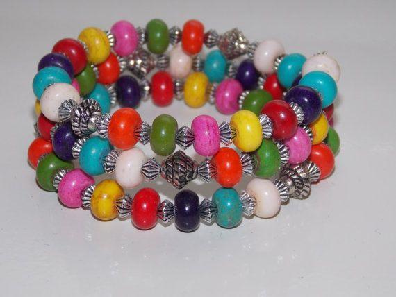 Rainbow Magnesite Wrap by EriniJewel on Etsy, $28.00