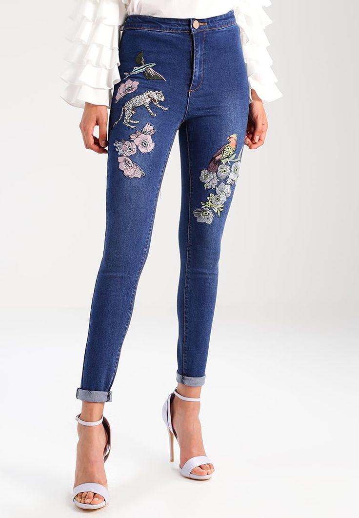 Lost Ink B&&B EMBROIDERY - Jeans Skinny Fit - mid denim - Zalando.co.uk