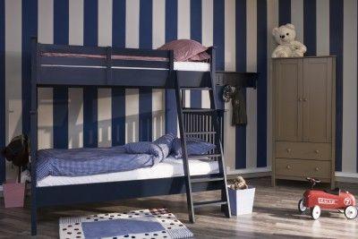 Łóżko Piętrowe - Kolor Granat (90+90) - MyRoom