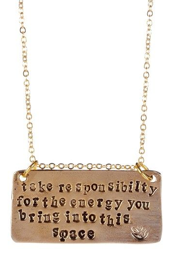 Responsibility, Energy, Theatre Necklace by Alisa Michelle on HauteLook