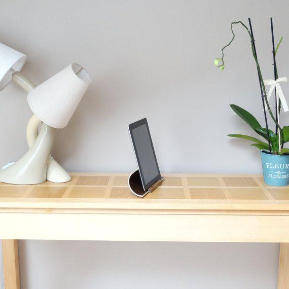 Support tablette Support ipad station d'accueil en bois