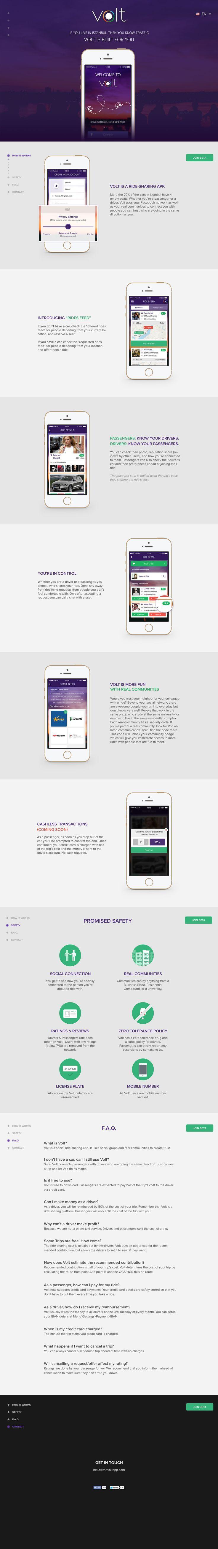 Volt App Website   #webdesign #flatui #ui