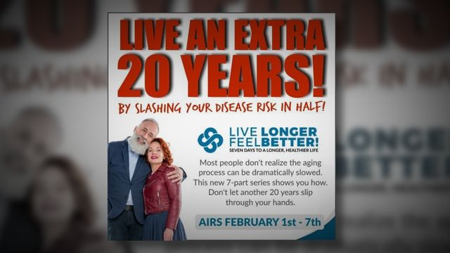 Visit http://ow.ly/ecvs30hSmPZ to discover how to live an extra 20 years
