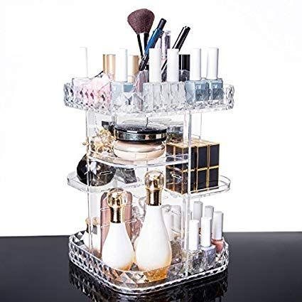 Yoler 360 graden rotatie Acryl Make-up organisator Cosmetische opslag Grote capaciteit …