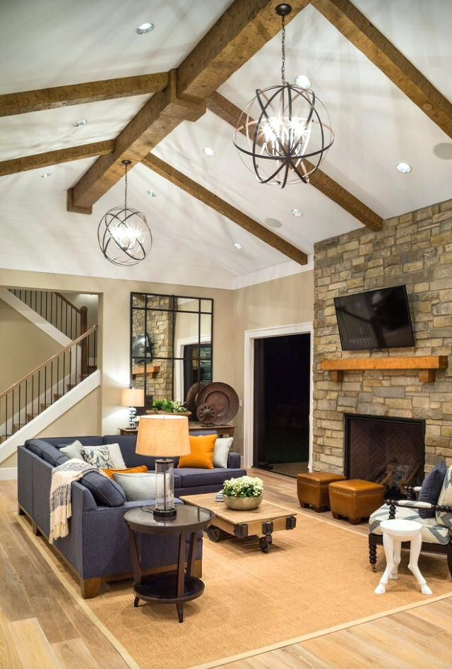 Awesome Lighting For Cathedral Ceiling In The Kitchen For Best Vaulted Ceiling Lighting Ideas O Rustic Family Room Transitional Living Rooms Family Room Design