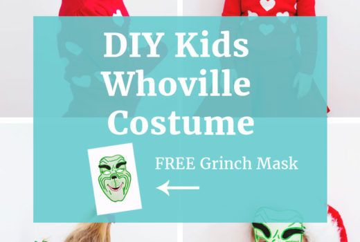 Kids Whoville costume tutorial! (costume tutorial, grinch mask, and hair tutorial)