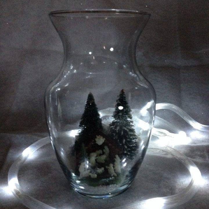 """Miniature Nativity Scene in 10"""" Globe by Toodalous on Etsy"""