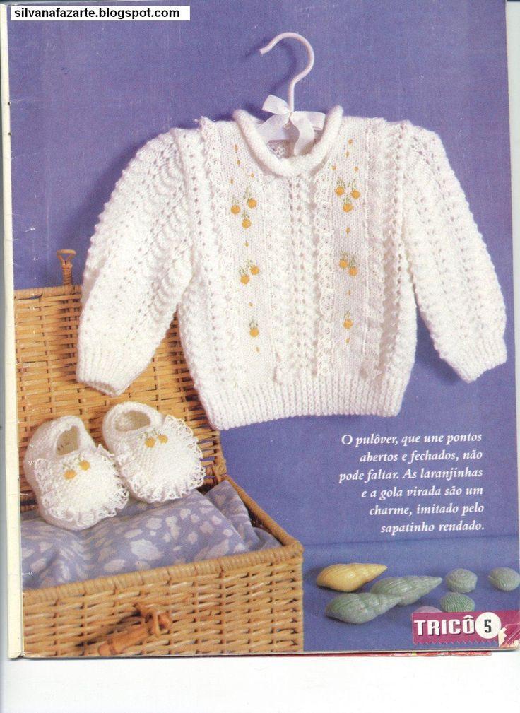 Casaquinho e sapatinho de trico