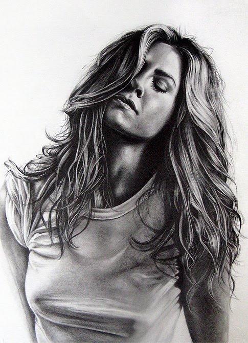 "*Pencil Sketch ""Jennifer Aniston"" by Jaci Steinberg"