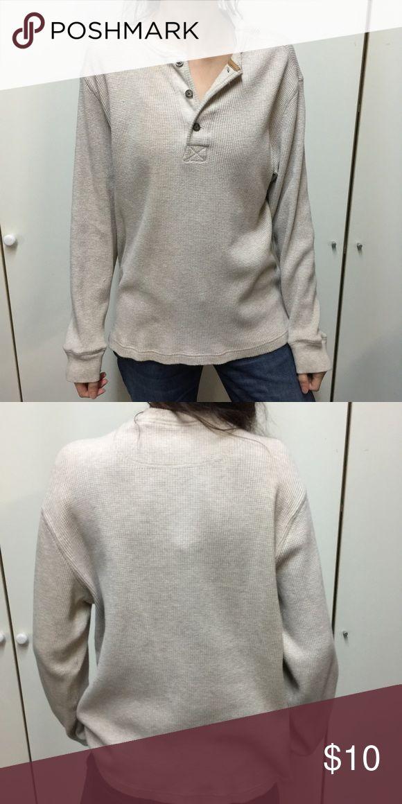 Vintage long sleeve waffle shirt Not actual brand Free People Tops Tees - Long Sleeve