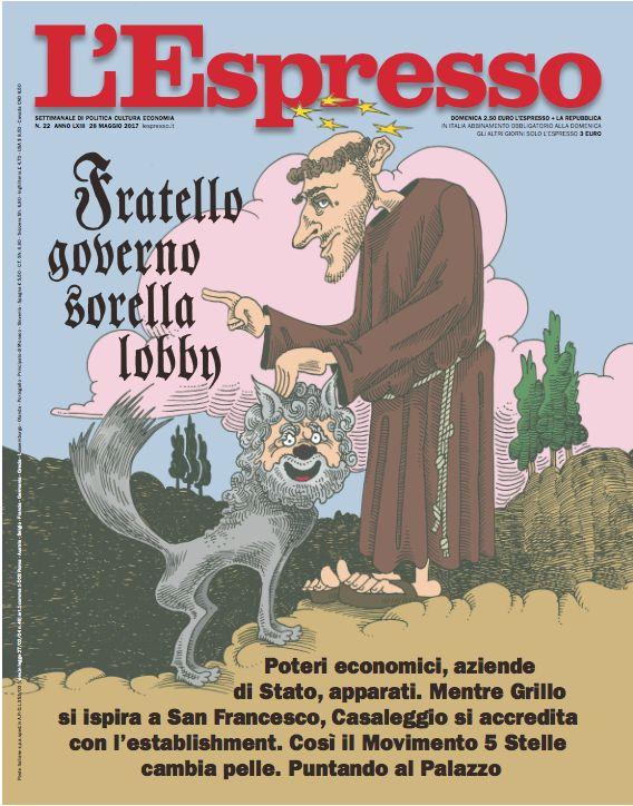 La copertina dell'Espresso in edicola da domenica 28 maggio