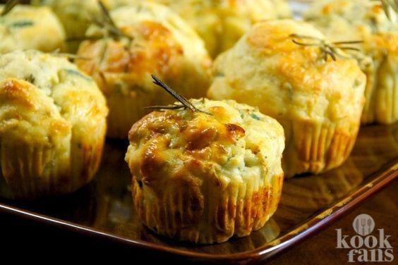 Ideaal als ontbijt: hartige muffins met zachte geitenkaas