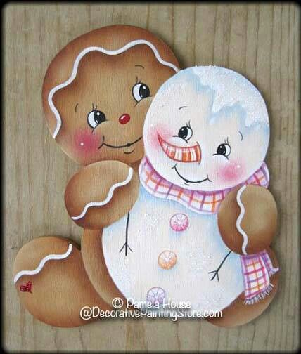 Gingerbread  man & snowman
