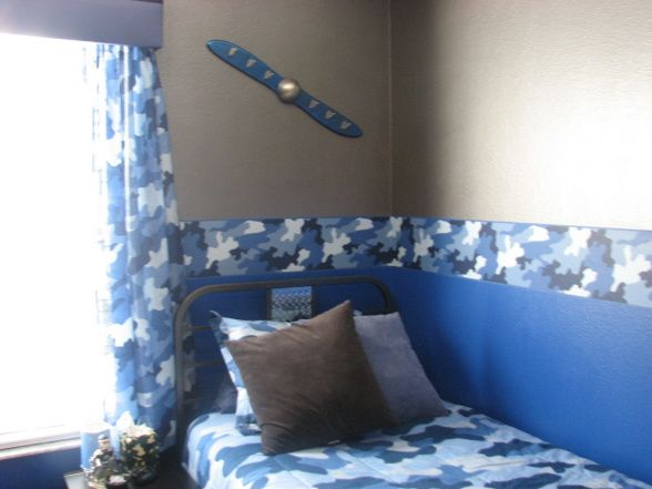 Boys Blue Camo Bedroom,  Blue Camo Bedroom was what my 10 year old picked out. I let my boys have some say in their rooms and then I go wit...