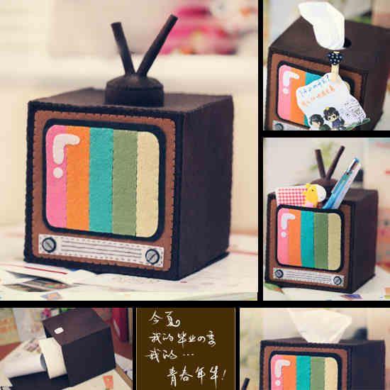 felt tv paper dispenser