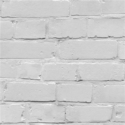 White brick effect wallpaper.