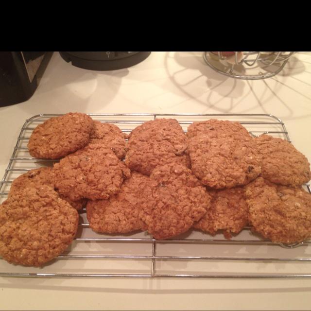 Oatmeal raisin cookies. Yum!