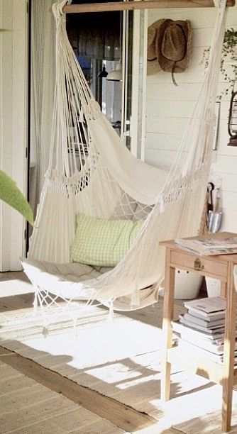 Hammock chair- we may not have much room for it but i LOVE this!! if we get a loft itd be perfect!!