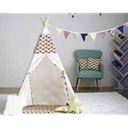 Sweety-ins Floral Classic Kids Teepee Kids Play Tent Childrens Play House Tipi Kids Room Decor