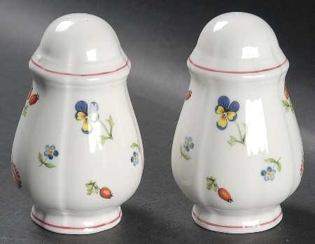 Villeroy & Boch Petite Fleur Salt and Pepper Set, Fine China Dinnerware by Villeroy & Boch, http://www.amazon.com/dp/B00484DX62/ref=cm_sw_r_pi_dp_lIahrb1DN94QS