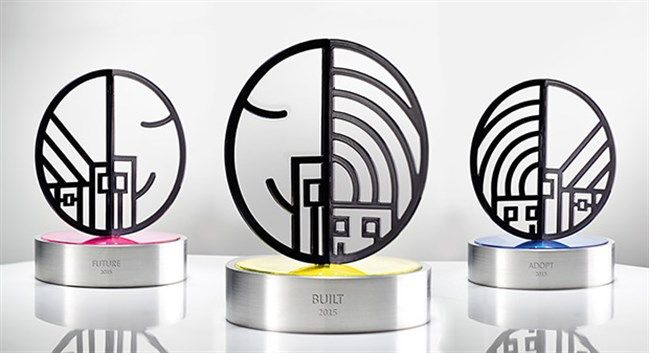 Trophy design that keeps true to the spirit of Social Gain innovation.