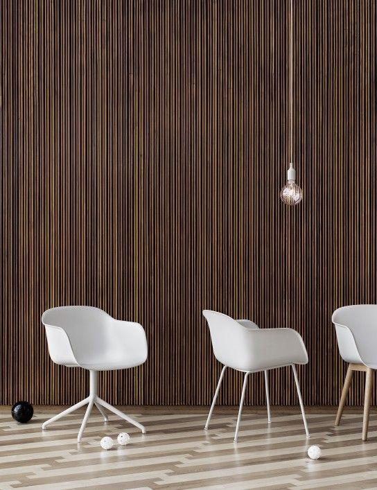 Monochrome white Muuto Fiber chairs. #muuto #muutodesign